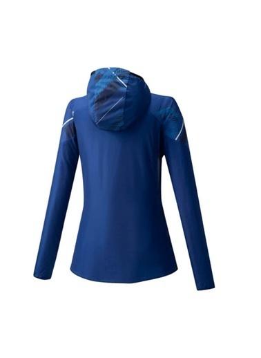 Mizuno Printed Jacket Kadın Yağmurluk Mavi/Desenli Mavi